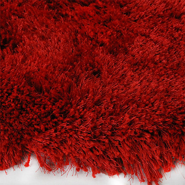 Monterey Flame-Red Large Shag Rug in Size 200cm x 290cm-Rugs 4 Less