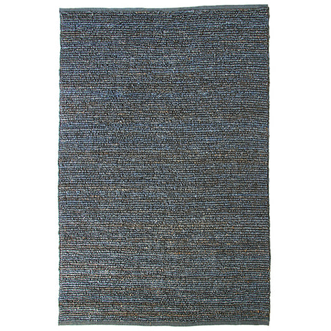 Morocco Jute Rug Blue in Size 160cm x 230cm-Rugs 4 Less