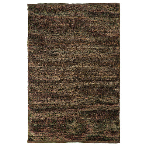 Morocco Jute Rug Brown in Size 160cm x 230cm-Rugs 4 Less