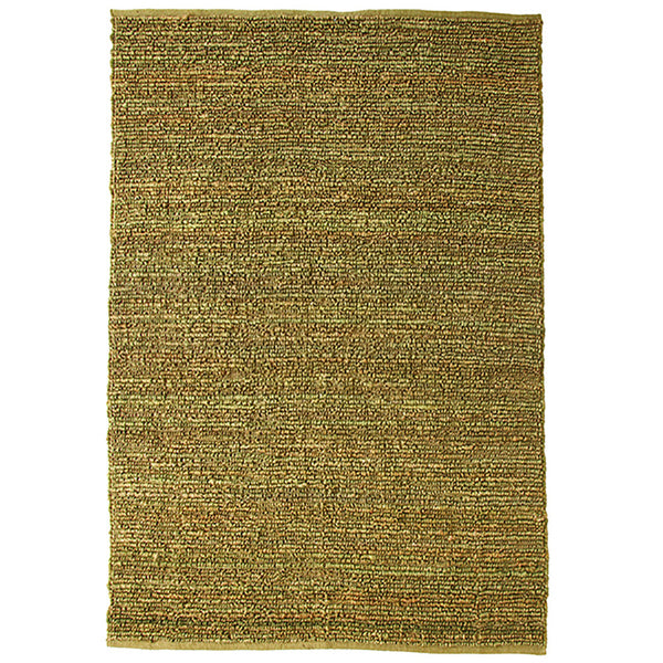 Morocco Large Jute Rug D.Green in Size 200cm x 300cm-Rugs 4 Less
