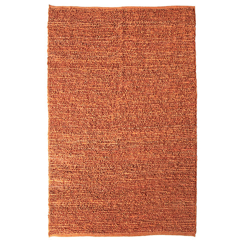 Morocco Extra Large Jute Rug Orange in Size 250cm x 350cm