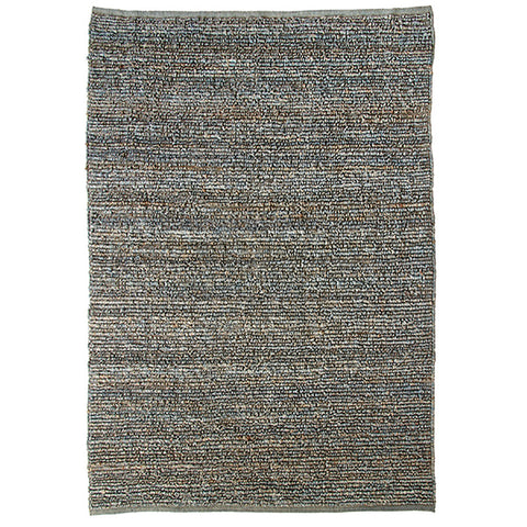 Morocco Jute Rug Petrol in Size 160cm x 230cm