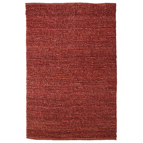 Morocco Large Jute Rug Red in Size 200cm x 300cm