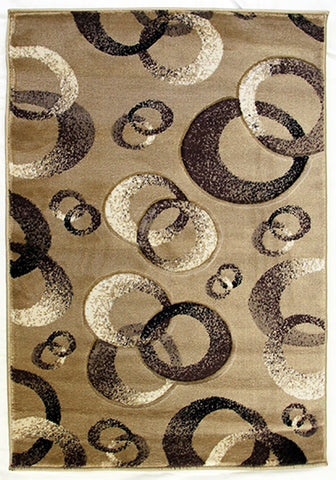 Motion 8222 L-Beige Large Mat in Size 80cm x 130cm-Rugs 4 Less