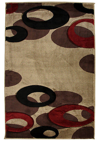 Motion 8232 Beige Large Mat in Size 80cm x 130cm-Rugs 4 Less
