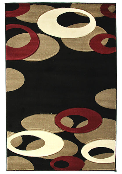 Motion 8232 Black Extra Large Rug in Size 240cm x 330cm-Rugs 4 Less