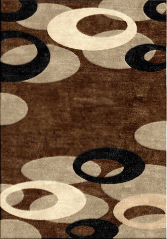 Motion-Plus 8232 Brown Small Modern Rug in Size 120cm x 160cm-Rugs 4 Less