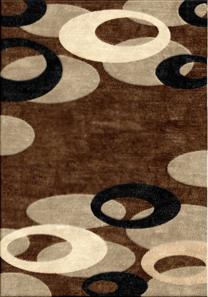Motion 8232 Brown Large Mat in Size 80cm x 130cm-Rugs 4 Less