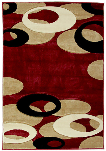 Motion-Plus 8232 Red Rug in Size 160cm x 230cm-Rugs 4 Less