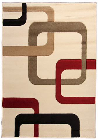 Motion 9020 White Large Mat in Size 80cm x 150cm-Rugs 4 Less