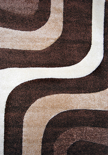 Nova 8935 Brown Extra Large Rug in Size 240cm x 340cm-Rugs 4 Less