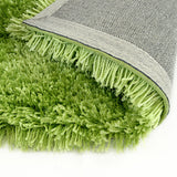 Pluto Light Green Small Shag Rug in Size 110cm x 160cm-Rugs 4 Less