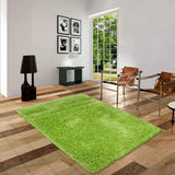 Pluto Light Green Shag Rug in Size 150cm x 220cm-Rugs 4 Less