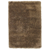 Pluto Taupe Small Shag Rug in Size 110cm x 160cm-Rugs 4 Less