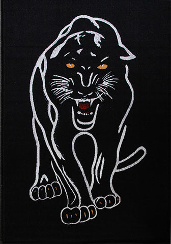 Animal Print Rug Panther in Size 90cm x 130cm-Rugs 4 Less