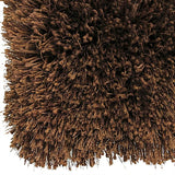 Pluto Cocoa Shag Rug in Size 150cm x 220cm-Rugs 4 Less