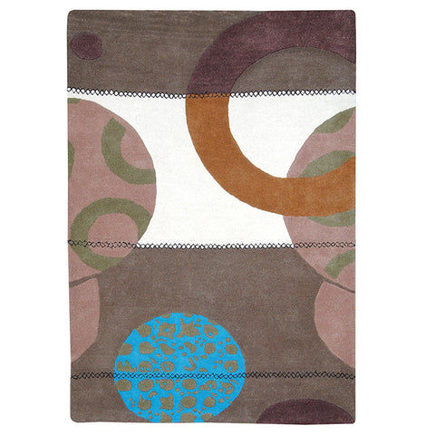 Province Large Wool Rug Aqua-Stitch in Size 200cm x 300cm-Rugs 4 Less