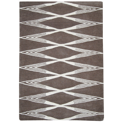 Province Large Wool Rug Diamond in Size 200cm x 300cm-Rugs 4 Less