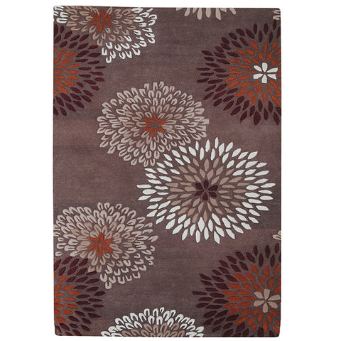 Province Wool Rug Merigold-Rust in Size 160cm x 230cm-Rugs 4 Less