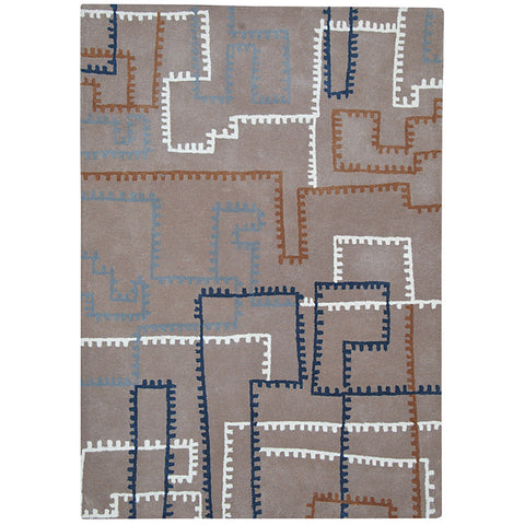 Province Large Wool Rug Tiny-Blocks in Size 200cm x 300cm-Rugs 4 Less