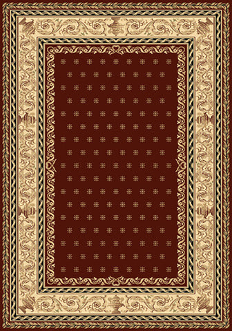 Residence 9674 Red Traditional Rug in Size 160cm x 230cm-Rugs 4 Less