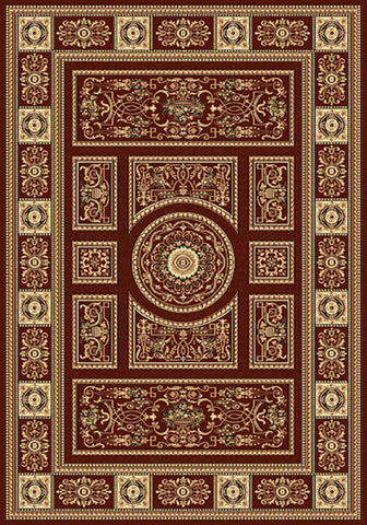 Residence 9706 Red Extra Large Traditional Rug 240x340cm-Extra Large Traditional Rug-Rugs 4 Less