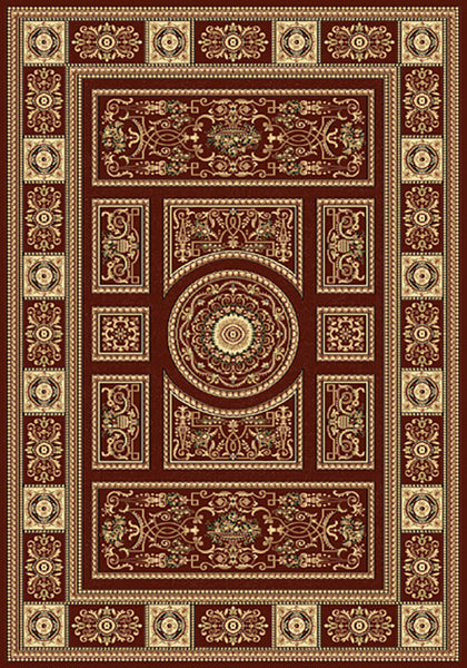 Residence 9706 Red Traditional Rug in Size 160cm x 230cm-Rugs 4 Less