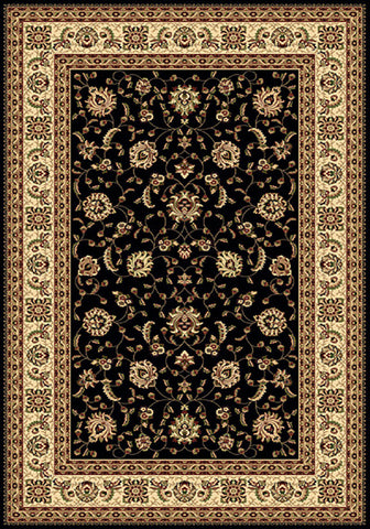 Residence 9777 Black Extra Large Traditional Rug 240x340cm-Extra Large Traditional Rug-Rugs 4 Less