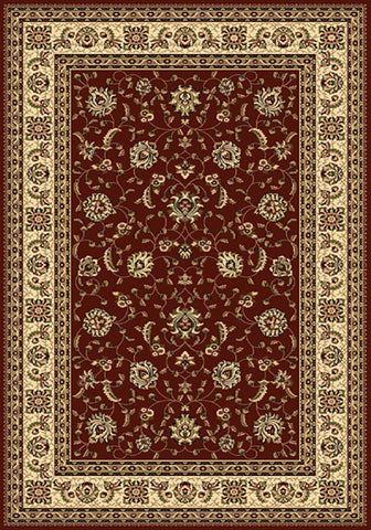 Residence 9777 Red Traditional Rug in Size 160cm x 230cm-Rugs 4 Less