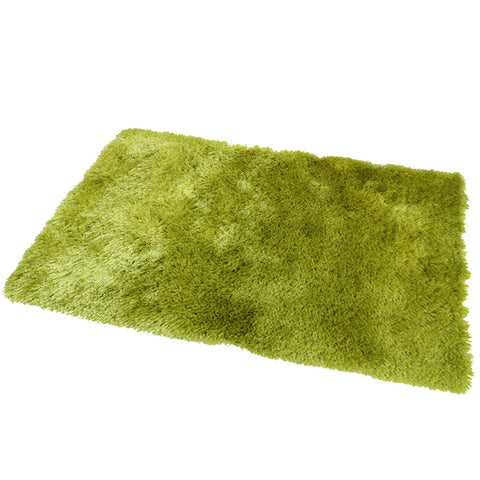 Satin Lime Green Mat in Size 55cm x 85cm