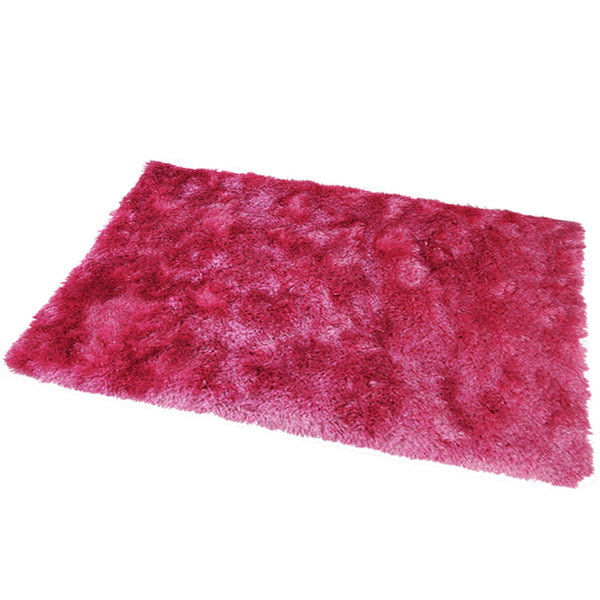 Satin Hot Pink Mat in Size 55cm x 85cm-Rugs 4 Less