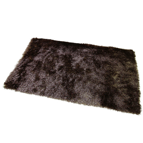 Satin Brown Mat in Size 55cm x 85cm-Rugs 4 Less