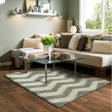 Style-7 Grey Chevron Rug in Size 160cm x 230cm-Rugs 4 Less
