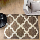 Style-9 Taupe Large Rug in Size 200cm x 290cm-Rugs 4 Less