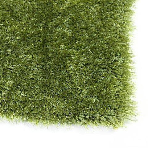 Sunny Green Small Shag Rug in Size 110cm x 160cm-Rugs 4 Less
