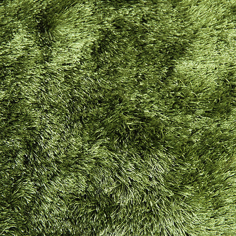 Satin Shag Rug Green 110x160cm - Rugs 4 Less