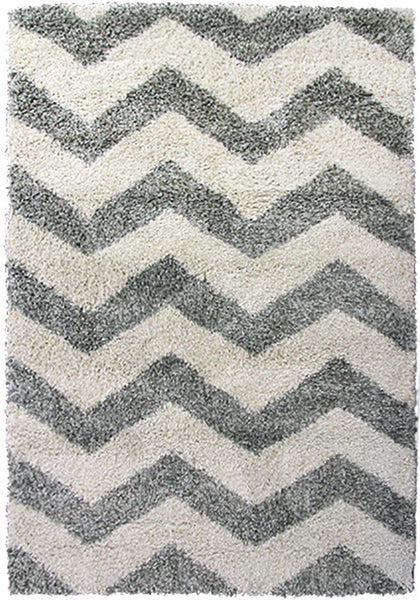 Style-7 Grey Chevron Extra Large Rug in Size 240cm x 330cm-Rugs 4 Less