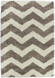Style-7 Taupe Chevron Rug in Size 160cm x 230cm-Rugs 4 Less