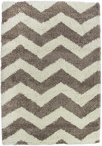 Style-7 Taupe Chevron Extra Large Rug in Size 240cm x 330cm-Rugs 4 Less
