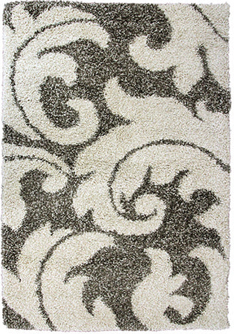 Style-8 Grey Large Rug in Size 200cm x 290cm-Rugs 4 Less