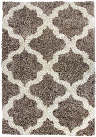 Style-9 Taupe Extra Large Rug in Size 240cm x 330cm-Rugs 4 Less