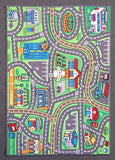Suburb Kids Car Rug in Size 110cm x 160cm-Rugs 4 Less