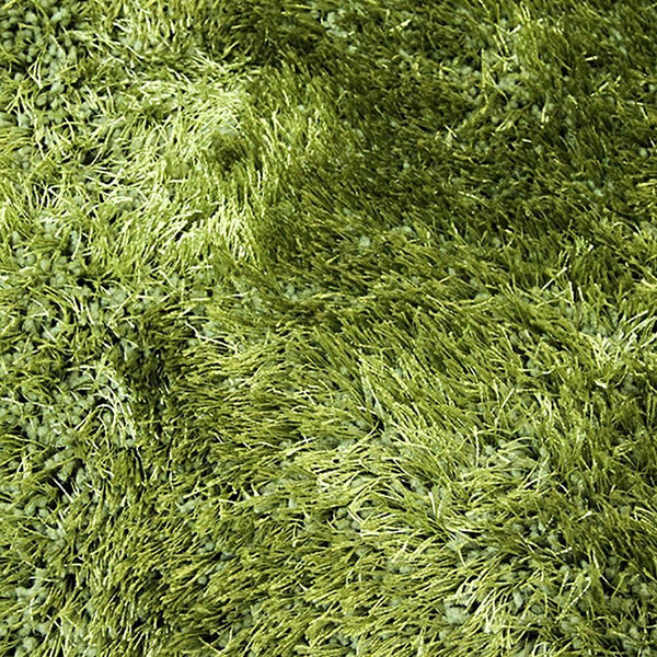 Sunny Green Shag Rug in Size 150cm x 220cm-Rugs 4 Less