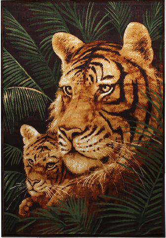Animal Print Rug Tiger in Size 140cm x 190cm-Rugs 4 Less