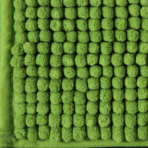 Toggle Bath Mat Green in Size 50cm x 80cm-Rugs 4 Less