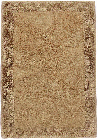 Border Cotton Bath Mat New Linen-Bath Mat-Rugs 4 Less