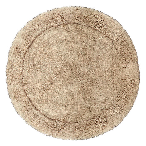 Cotton Round Bath Mat - Mink by Rugs4Less