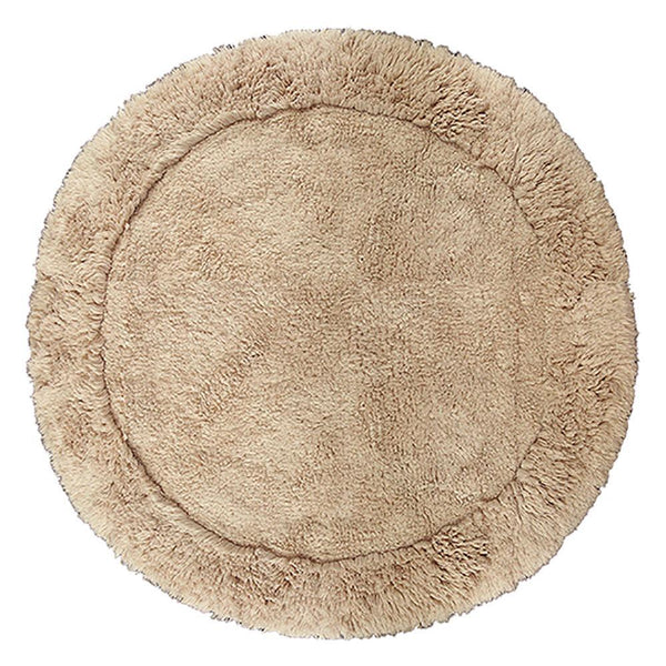 Cotton Round Bath Mat Mink in Size Round 70cm-Rugs 4 Less