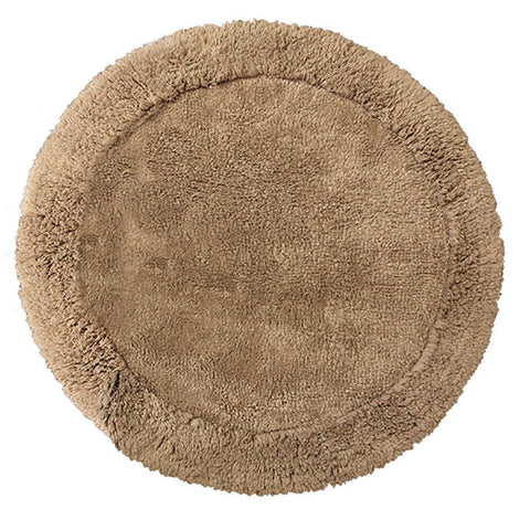 Cotton Round Bath Mat New Linen in Size Round 70cm-Rugs 4 Less