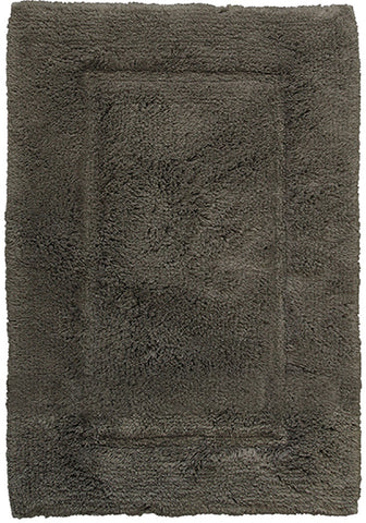 Luxury Border Cotton Bath Mat Charcoal-Bath Mat-Rugs 4 Less